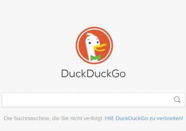 DuckDuckGo suchen mit Apple Maps Karten- und Adressen