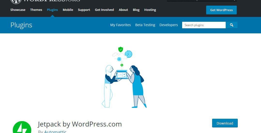Kostenloses Analyse Tool JetPack von WordPress