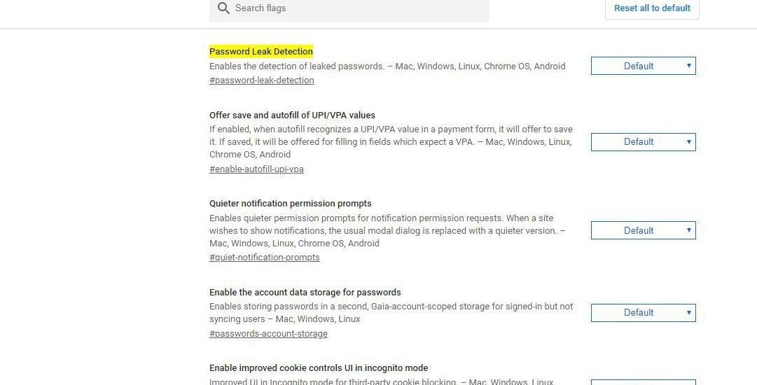 Google Chrome empfiehlt Passwort zu ändern deaktivieren