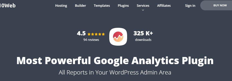 Google Analytics by 10Web - Google Analytics-Plugins für WordPress