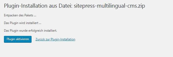 WPML WordPress - Installation