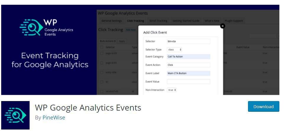 WP Google Analytics Events - bestimmte Ereignisse tracken