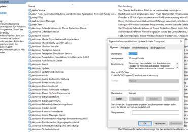 Windows 10: Windows Update Fehler 0x80070422 beheben