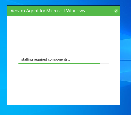 Installation von Veeam Agent for Windows Free