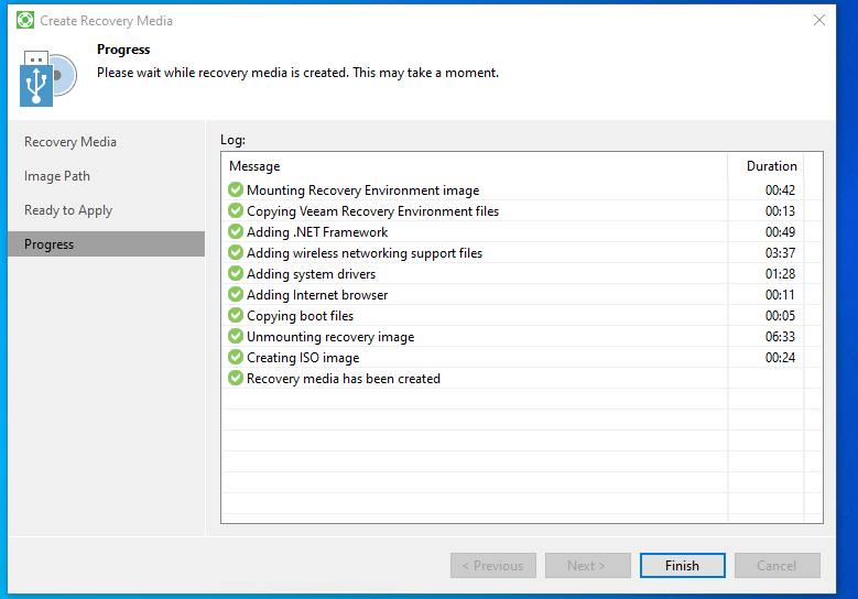 Veeam Agent for Microsoft FREE mit Veeam Recovery Media Creation Assistent eine ISO-Datei erstellen
