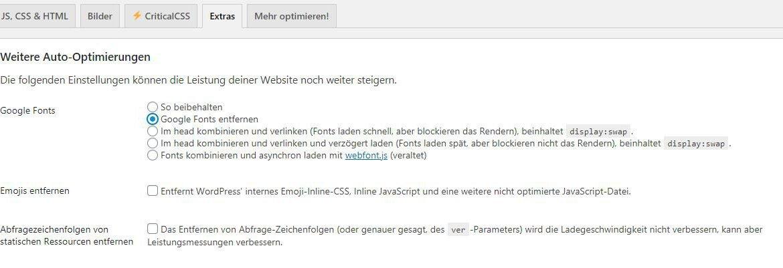 Mit dem WordPress Plugin Autoptimize Google Fonts entfernen