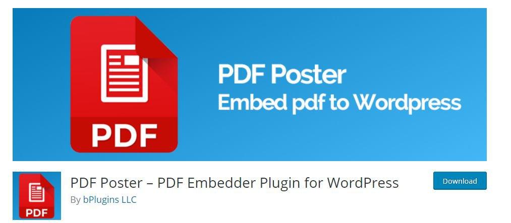 PDF Poster Plugin PDF Reader WordPress