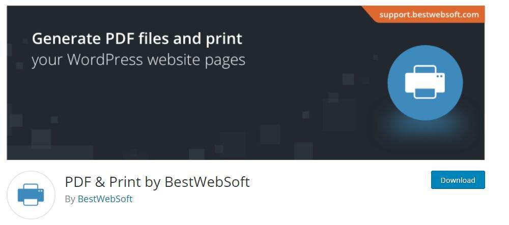 PDF & Print by BestWebSoft PDF Plugin WordPress
