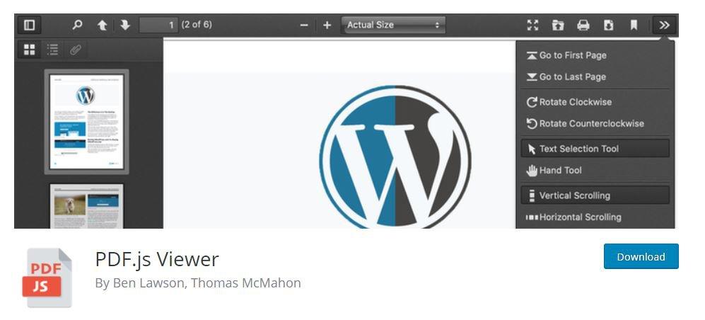 PDF.js Viewer - Plugin PDF Reader WordPress