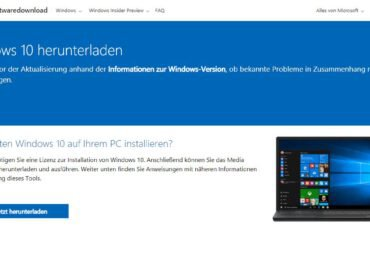 Windows 10 20H2: Windows 10 als ISO download